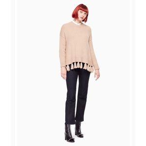 NWT Kate Spade Alpaca Tassel Sweater